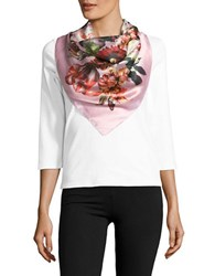 Collection 18 Floral Scarf Pink