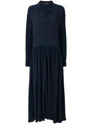 Ter Et Bantine Flared Maxi Dress Blue