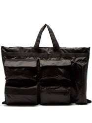 Raf Simons X Eastpak Poster Print Oversized Satin Tote Bag Black