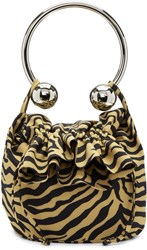 Ashley Williams Brown And Black Tiger Piercing Bag