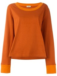 Romeo Gigli Vintage Scoop Neck Sweatshirt Yellow And Orange