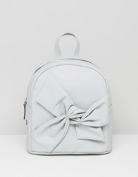 Asos Bow Detail Backpack Grey