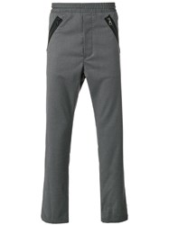 Just Cavalli Casual Straight Trousers Grey