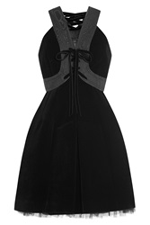 Marc By Marc Jacobs Mini Dress With Tulle And Velvet Black
