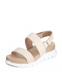 Cole Haan Zerogrand Smooth Leather Sandal White