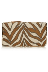 Tamara Mellon Playboy Ii Zebra Print Calf Hair Clutch