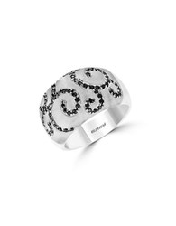 Effy Final Call Black Diamond And Sterling Silver Ring