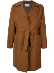 Tomorrowland Belted Coat Brown