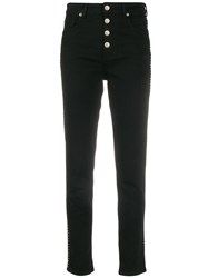 Iro Studded Tapered Jeans Black