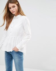 Jdy J.D.Y Peplum Shirt Cloud Dancer White