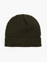 Saturdays Surf Nyc Green Bobble Knit Beanie Hat