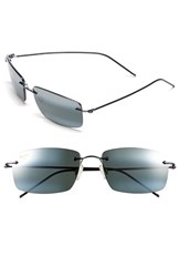 Maui Jim Men's 'Sandhill Polarizedplus2' 57Mm Polarized Sunglasses Gunmetal Blue Neutral Grey Gunmetal Blue Neutral Grey