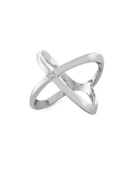 Bcbgeneration Knotted By Nature X Stack Ring Silver