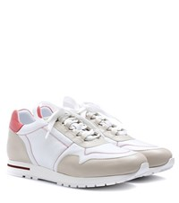 Loro Piana My Calf Leather Sneaker Neutrals
