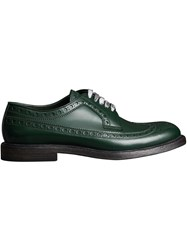 Burberry Leather Brogues With Painted Laces Green