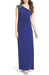 Vince Camuto Women's Embellished Jersey One Shoulder Gown