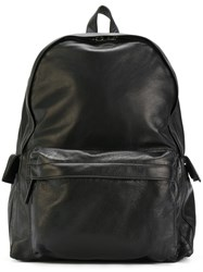Ann Demeulemeester Flap Pocket Backpack Unisex Leather One Size Black