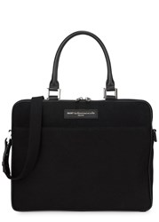 Want Les Essentiels Haneda Black Canvas Briefcase