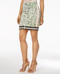 Guess Reese Printed Zip Front Skirt Snake In The Garden Scuffy