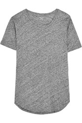 Madewell Whisper Slub Cotton Jersey T Shirt Gray