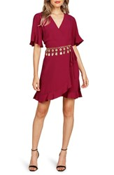 Willow And Clay Flutter Sleeve Wrap Dress