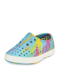 Native Miller Waterproof Marbled Rubber Skate Shoe Yellow Pink Blue White Youth