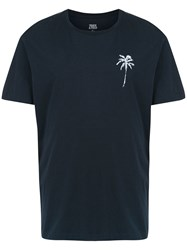 Track And Field Printed Cool T Shirt Blue