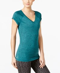 Ideology Rapidry Heathered T Shirt Only At Macy's Moonlit Teal