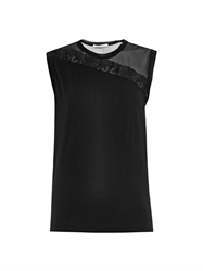 Christopher Kane Mesh And Lace Insert Top