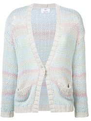 Allude Front Pocket Cardigan Women Cotton Polyacrylic S