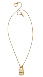 Rachel Zoe Gavriel Small Lock Necklace Gold