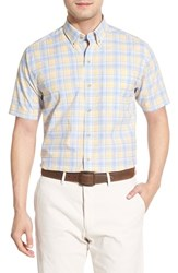 Men's Big And Tall Cutter And Buck 'Anchor Plaid' Regular Fit Short Sleeve Sport Shirt