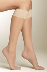 Women's Spanx Sheer Knee Highs Ivory 2 Pack Buff