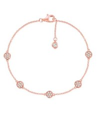 Crislu Sugar Drops Geometric Pave Crystal And Sterling Silver Bracelet Rose Gold