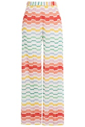Missoni Mare Zigzag Print Wide Leg Pants Multicolor