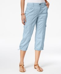 Style And Co Cargo Capri Pants Only At Macy's Pastel Blue