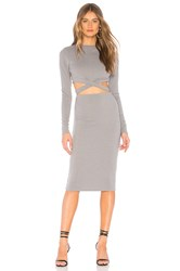 By The Way Christa Cut Out Midi Dress Gray