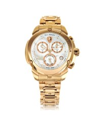 Lamborghini Shield Lady Rose Gold Tone Stainless Steel Chronograph Watch