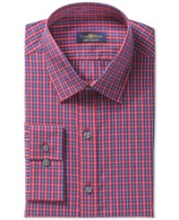Club Room Estate Wrinkle Resistant Navy Window Check Dress Shirt Only At Macy's