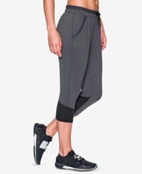 Under Armour Cropped Pants Carbon Heather Black