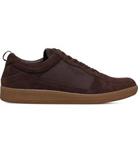 Kg By Kurt Geiger Younge Suede Trainers Brown