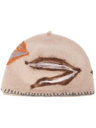 Le Chapeau Embroidered Hat Nude And Neutrals