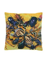 Seletti Toiletpaper Insect Cushion Yellow