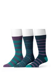 Muk Luks Assorted Socks Pack Of 3 Green