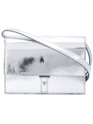 Pb 0110 Fold Over Top Crossbody Bag Metallic