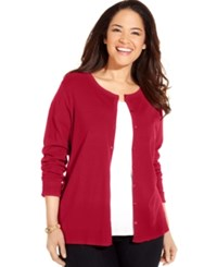 August Silk Plus Size Blend Cardigan Ladybug Red