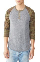 Alternative Apparel Men's Three Quarter Sleeve Raglan Henley