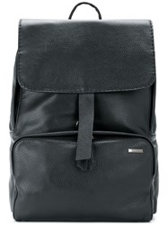 Zanellato Top Flap Backpack Leather Black