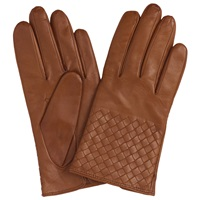 John Lewis Cashmere Lined Leather Gloves Tan