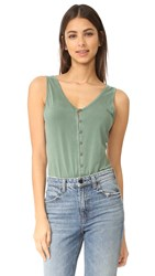 Young Fabulous And Broke Yfb Clothing Loop Bodysuit Olive Green
